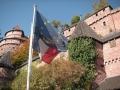 27: Die von Kaiser Wilhelm II. wiederaufgebaute Haut-Koenigsbourg im Elsaß. Sie liegt zwischen Strasbourg und Colmar in der Nähe von Selestat (Schlettstadt).